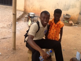 With an out-of-school child @Ajumako, Ghana